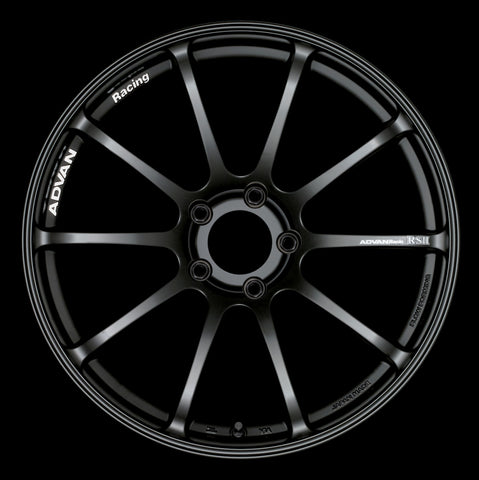 Advan RSII 17x9.0 +52 5-100 Semi Gloss Black Wheel