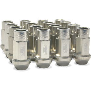 BLOX FORGED ALUMINUM LUG NUT: 12x1.50 (16PC/SILVER)
