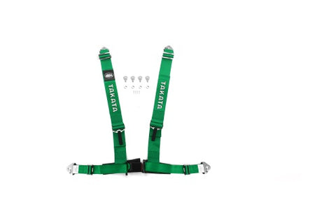 Takata Drift III 4-Point Harness Green Snap-On - Universal