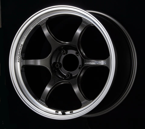 Advan RG-D2 18x8.0 +47 5-100 Machining & Black Gunmetallic Wheel