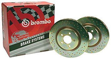 BREMBO DRILLED SPORT ROTOR SET: FOR ACURA/HONDA (REAR)