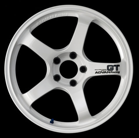 Advan GT 20x11.0 +15 5-114.3 Racing White Wheel