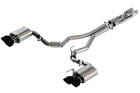 Borla 2020 Ford GT500 5.2L AT 3in ATAK CatBack Exhaust w/ Black Chrome Tips