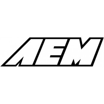"AEM STICKER: 12"" x 3.875"" (WHITE)"