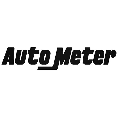AUTO METER 8 LOGO DECAL (BLACK VINYL)
