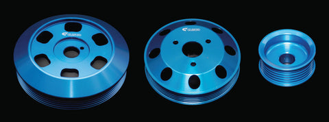 CUSCO ALUMINUM 3 PCS PULLEY SET: FR-S & BRZ 2013-15 (BLUE)