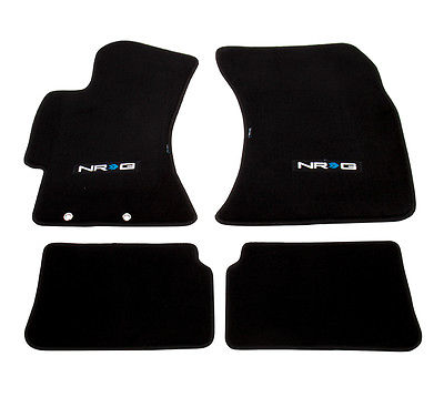 NRG FLOOR MATS: MITSUBISHI LANCER EVO 08-14 & RALLIART 09-15 (WITH NRG LOGO)