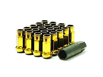 MUTEKI SR48 LUG NUT SET: 12 x 1.25 (OPEN END/CHROME YELLOW)