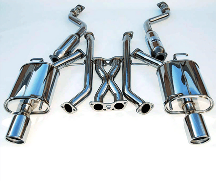 INVIDIA Q300 EXHAUST: G35 SEDAN 07-08, G37 SEDAN 09-14, Q40 15-16 (STAINLESS STEEL TIPS)