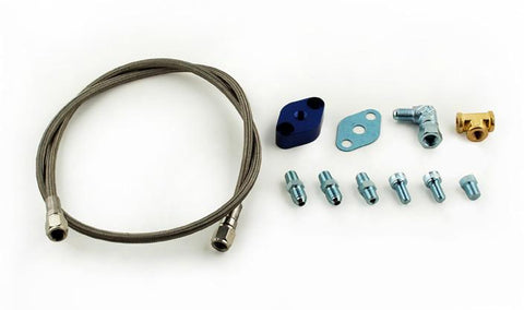 TOMIOKA S/S OIL FEED LINE KIT (104CM): GARRETT T3/T4/T04B/T04E/T60 & MORE