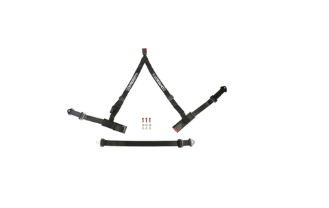 Corbeau 2 Inch 3-Point Bolt-In Double Release Harness Black - Universal