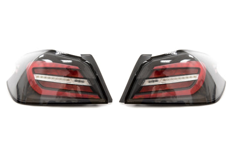 SubiSpeed V2 Tail Light Clear Lens Red Bar - 2015+ WRX STI