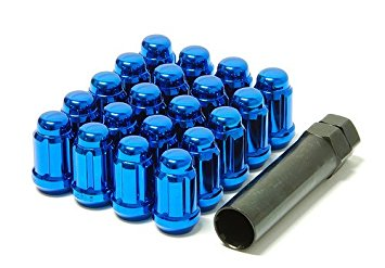 MUTEKI 20pc CLOSED END LUG NUT SET: 12 x 1.25 (BLUE)