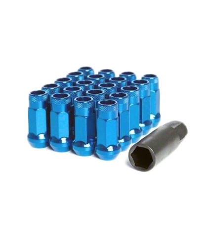 MUTEKI SR48 LUG NUT SET: 12 x 1.25 (OPEN END/BLUE)