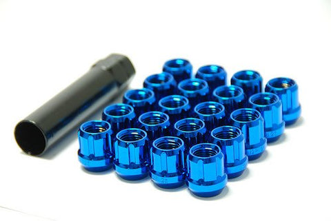 MUTEKI 20pc OPEN END LUG NUT SET: 12 x 1.25 (BLUE)