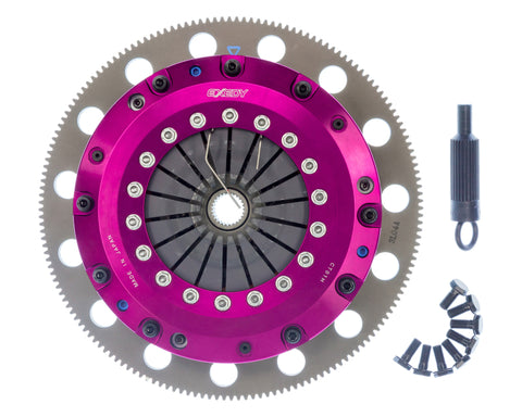 Exedy 96-16 Ford Mustang V8 4.6L/5.0L Hyper Twin Cerametallic Clutch Sprung Disc Push Type Cover