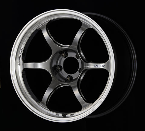 Advan RG-D2 16x8.0 +48 5-100 Machining & Racing Hyper Black Wheel