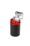 Aeromotive Canister Fuel Filter - 3/8 NPT/100-Micron (Red Housing w/ Black Sleeve)