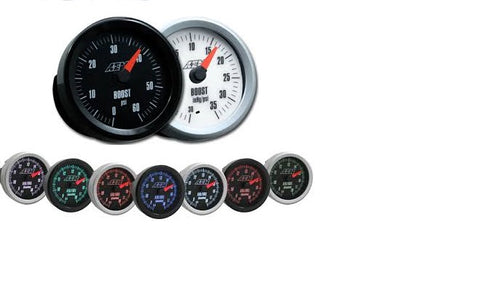 AEM ANALOG GAUGE: BOOST 0-60 PSI