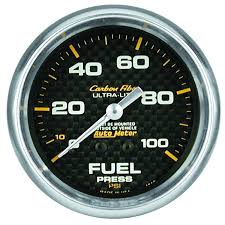 Copy of AUTO METER CARBON FIBER 2 GAUGE: BOOST 30HG/30 PSI