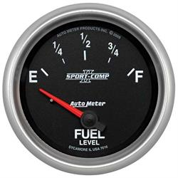 AUTO METER CARBON FIBER 2-5/8 GAUGE: FUEL LEVEL (240E/33F)