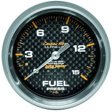 AUTO METER CARBON FIBER 2-5/8 GAUGE:FUEL PRESS 0-15PSI(ISO)