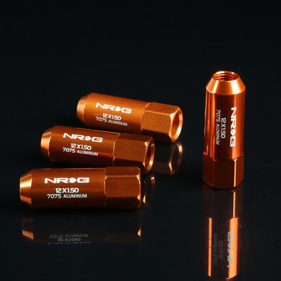 "NRG - 7075 EXTENDED LUG NUTS: 7/16"" x 20-RH (4PC. ROSE GOLD)"