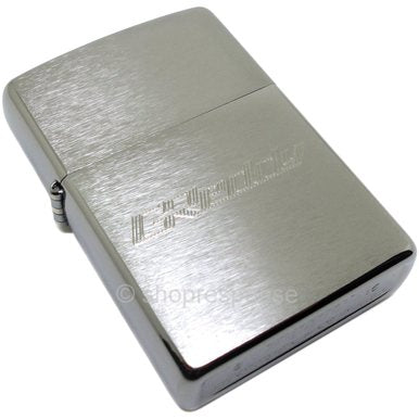 GREDDY ZIPPO LIGHTER: GREDDY ETCHED LOGO (BRUSHED)