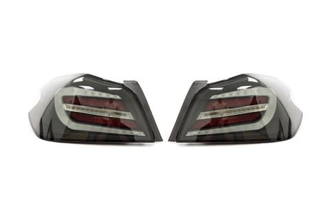 SubiSpeed V2 Tail Light Smoked Lens White Bar - 2015+ WRX STI