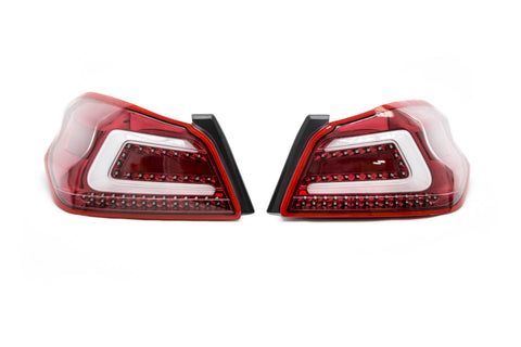 SubiSpeed USDM TR Style Sequential Tail Lights Clear Lens Red Reflector - 2015+ WRX 2015+ STI