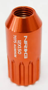NRG - T7075 12PT CLOSED END LUG NUTS: M12x1.25 (17PC. ORANGE)