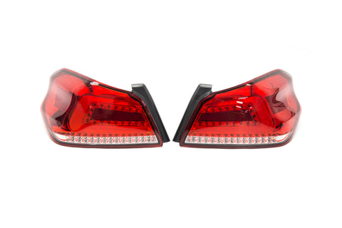 SubiSpeed USDM TR Style Sequential Tail Lights Red Lens Chrome Reflector - 2015+ WRX 2015+ STI