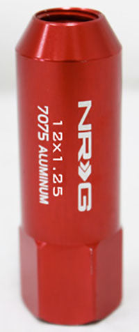 NRG - 7075 EXTENDED LUG NUTS: M14x1.5 (4PC. RED)
