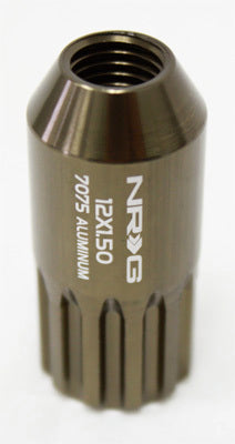 NRG - T7075 12PT CLOSED END LUG NUTS: M12x1.25 (17PC. TITANIUM)