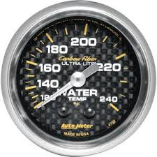 AUTO METER CARBON FIBER 2 GAUGE: WATER TEMP 120-240 F