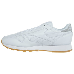 73970d59e91 Reebok Classic Leather Metallic Diamond Sneakers Womens Style   Bd4423