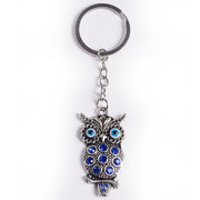 Evil Eye Owl Key Chain w/ Rhinestones