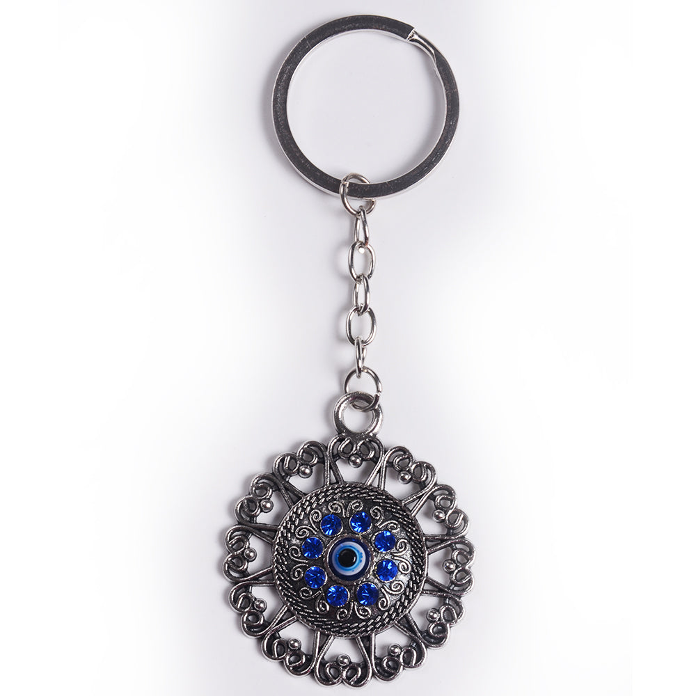 Evil Eye Flower Key Chain
