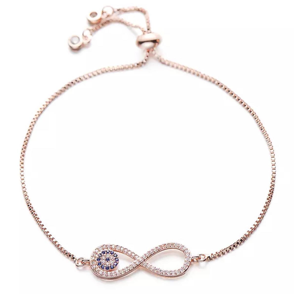 Infiniti Evil Eye Bangle Gold/Silver/Rose Gold/Black