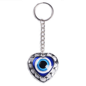 Heart Shaped Evil Eye Key Chain