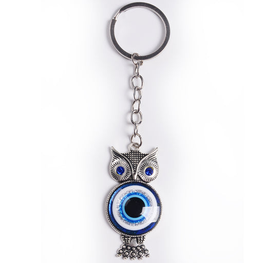 Evil Eye Key Chain w/ Glass Eye