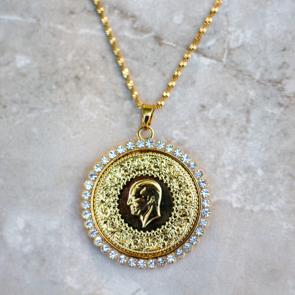 Large Gold Coin Necklace