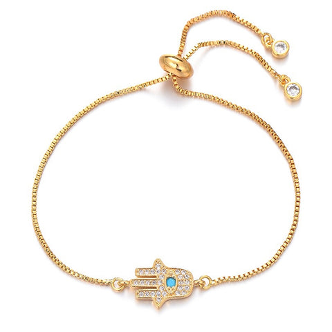 Gold Adjustable Hamsa Bracelet