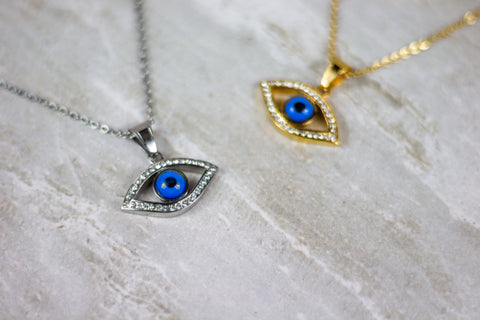 Evil Eye Necklace Gold/Silver