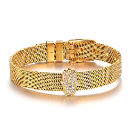 Gold Watch Style Hamsa Bracelet