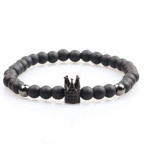 Black Titanium Crown Bracelet