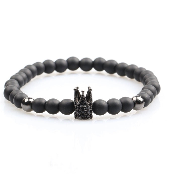 Black Titanium King's Crown Bracelet