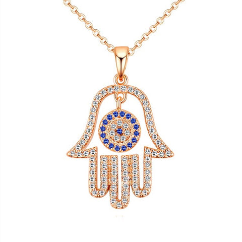 Hamsa Hand Eye Necklace Gold/Silver/Rose Gold