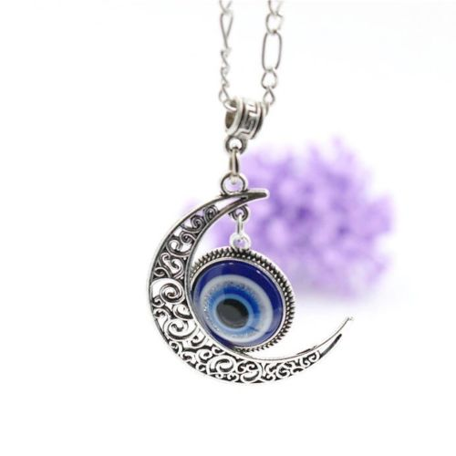 Evil Eye Moon Necklace
