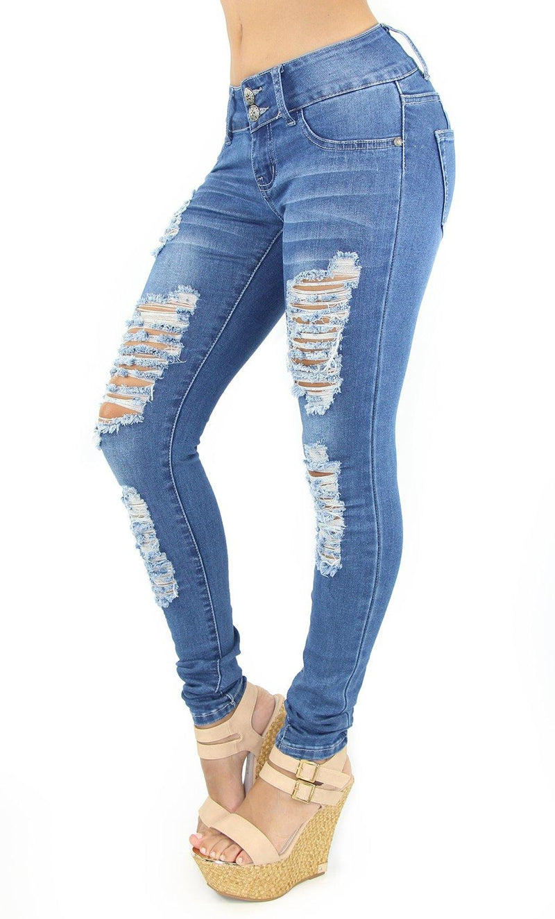 1028 Dear Body Women's Destroyed Skinny Jean